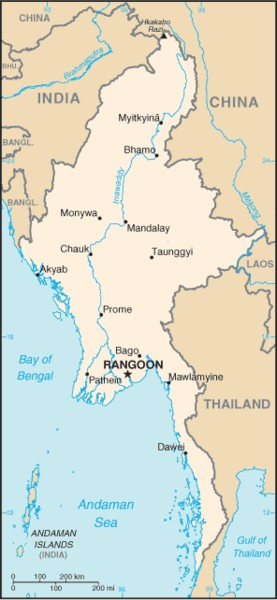 maps of burma. Burma. click for country map